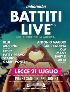 Battiti live Lecce 2013