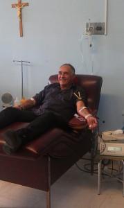 Pasculli dona il sangue