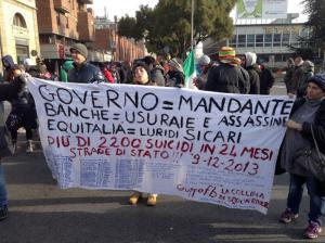 Protesta 9 dicembre Bologna