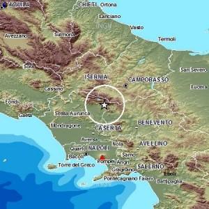 mappa terremoto Campania