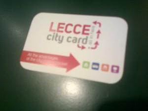 Lecce city card