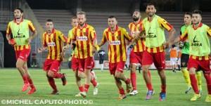 Esultanza giocatori Lecce-Foligno