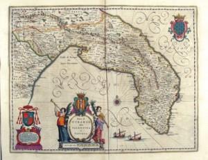 Mappa cartina Terra d'Otranto