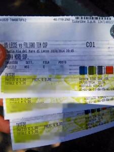biglietti Lecce-Foligno