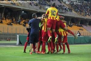 esultanza Lecce-Barletta 1-0 6-9-2014