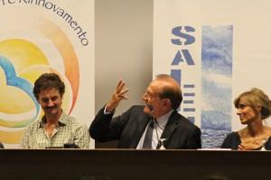 WojteK Pankiewicz con Edoardo Winspeare e Gabriella Legno nella conferenza stampa del 9 settembre