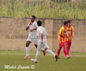 Gianluca Sciangalepore, nuovo attaccante del Vieste, in gol l'anno scorso contro il Lecce Berretti con il Foggia
