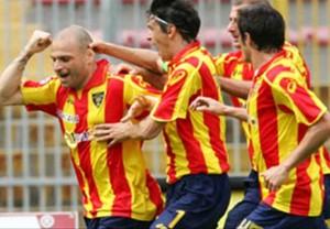 Simone Tiribocchi dopo un gol (fonte web)