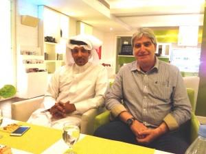 Camillo Placì con Ali Alkuwairi