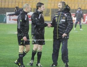 Pagliari con arbitro Serra di Torino