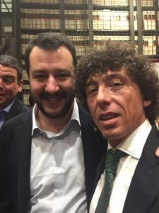 Mauro Gianni Giordano con Matteo Salvini