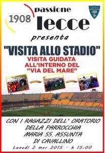 Visita allo stadio 2-3-2015
