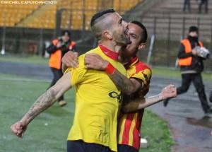 esultanza Lepore Lecce-Juve Stabia