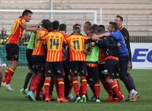 Lecce-Foggia esultanza finale