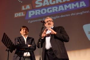Michele Emiliano con Dario Stefàno a Lecce