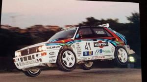 Claudio D'Amico su Lancia Delta HF Martini