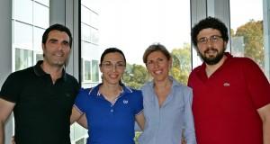 Il gruppo di ricercatori (da sinistra): Luca Salvatore, Marta Madaghiele, Francesca Gervaso, Christian Demitri