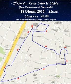 Stasera la Corri e cammina a Lecce sotto le stelle
