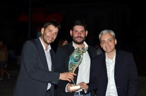 premio castrum minervae 2015 da sx Deodati, Petrachi, e Vendramin