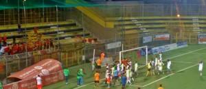 Juve Stabia Lecce esultanza fine gara