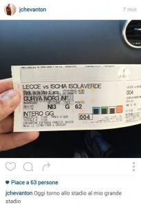 Chevanton biglietto Lecce-Ischia
