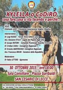 Incontro Xylella del 30 ottobre a San Cesario