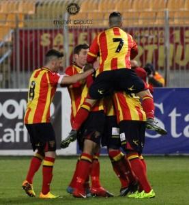 esultanza Lecce- Juve Stabia