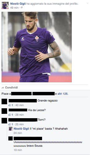 Gigli su Facebook