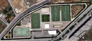 """Una veduta aerea del Centro sportivo Comunale """"Kolbe"""""""
