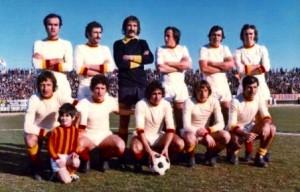 Emmerich Tarabocchia in una formazione del Lecce del 1974-'75