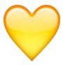 cuore giallo