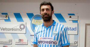 Marcello Cottafava con la maglia della Spal (foto ascolilive.it)