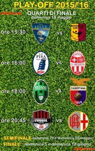 griglia play-off Lega Pro 2015-2013