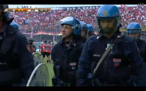 Foggia-Pisa polizia in campo