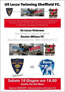 Lecce veterans-dexter Milan Sheffield FC