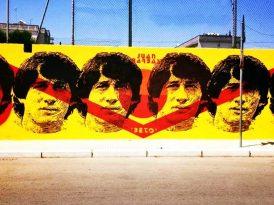 Un murale per Beto Barbas