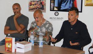 """Giacomazzi e Chevanton con Andrea Ferreri, autore di """"A Sud di Maradona"""""""