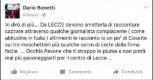 post Bonetti rimosso