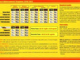 Lecce: 503 abbonamenti nel primo giorno