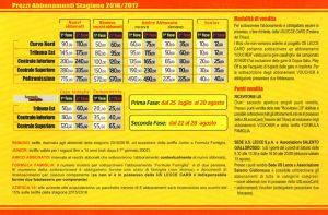 abbonamenti Lecce 2016-2017