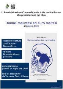 locandina libro Marco Rizzo