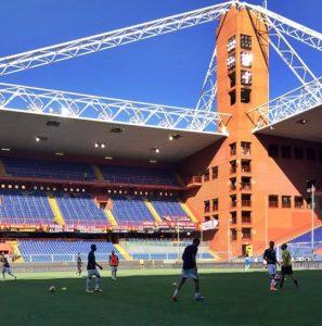 Il Lecce si allena a Genova al Ferraris