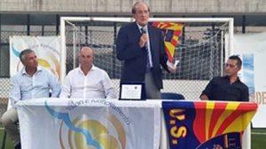 targa d'onore Valori e Rinnovemento all'US Lecce