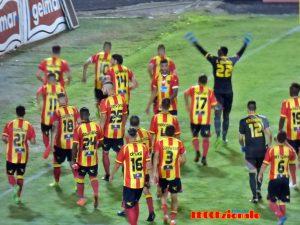 esultanza squadra Lecce