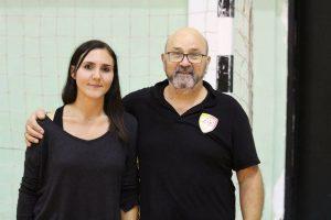 Sara Quarta e Orlando Quarta, dirigenti del Futsal Lecce