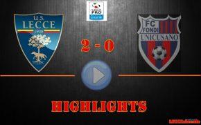 Gli highlights di Lecce-Fondi 2-0