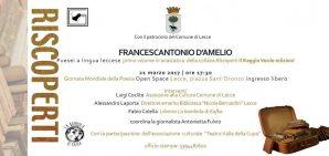 Puesei in leccese, omaggio a Francescantonio D'Amelio