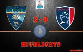 Lecce-Taranto 3-0, gli highlights