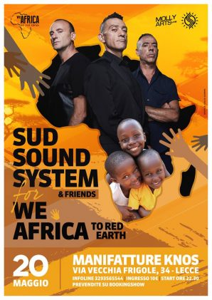 Tutto pronto per il Sud Sound System live for We Africa live