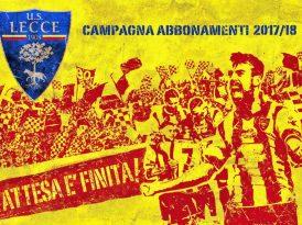 Lecce, la 1^ fase della campagna abbonamenti prorogata fino al 26 agosto
